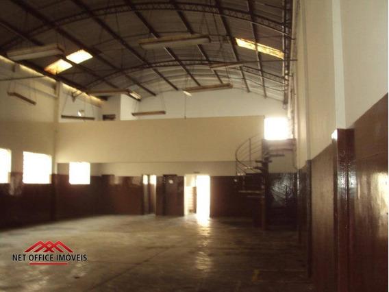 Galpão Para Alugar, 500 M² Por R$ 5.000,00/mês - Jardim Vale Do Sol - São José Dos Campos/sp - Ga0014