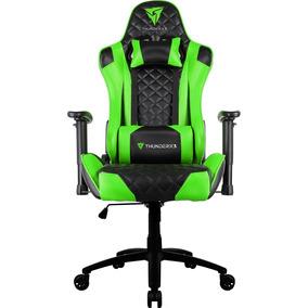 Cadeira Gamer Thunderx3 Tgc12 Preta/verde (promoção)