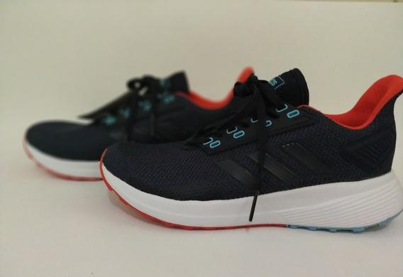 Tênis adidas Duramo 9 Feminino Azul/vermelho Original