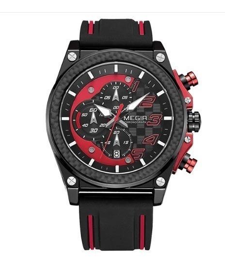 Relógio Masculino Luxo, Megir Lançamento Com Caixa
