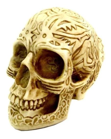 Suporte Headset Ou Fone De Ouvido Crânio Caveira Tribal Inca