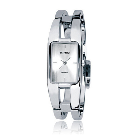 Relógio Feminino Bracelete Retangular Kimio - Branco
