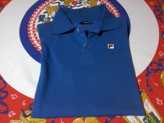 Camisa Polo Fila Original Azul Tam M
