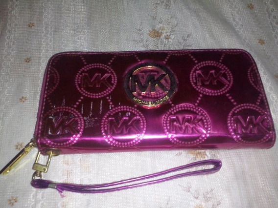 Cartera Billetera Porta Celular Michael Kors Color Fucsia