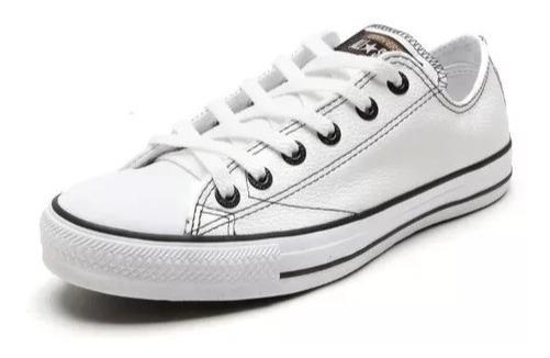 Promoção Do Mês!!! All Star Couro Branco
