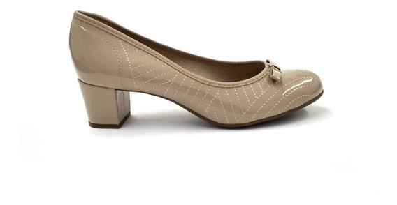 Sapato Feminino Beira Rio Verniz Bege 4777