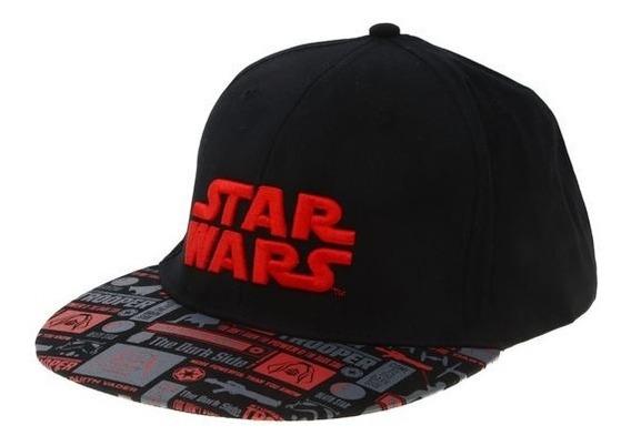 Gorra Star Wars Con Bordado Estampado Visera Plana Original