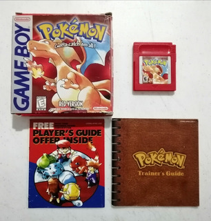 Pokemon Red Original Gameboy Nintendo Pokemon Rojo Gb Caja