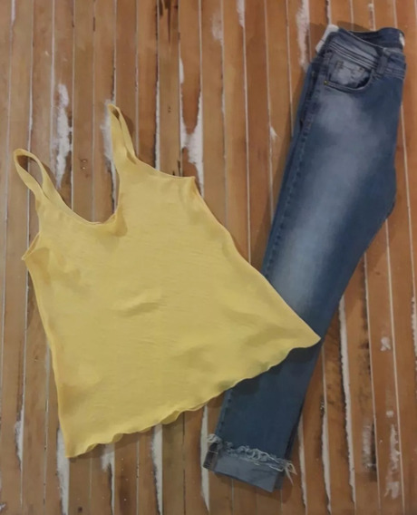 Blusa Musculosa Básica De Seda Moda Mujer Oferta