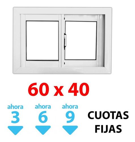 Ventana Corrediza Alum 60x40cm