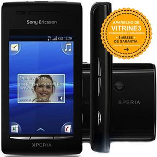 Celular Sony Xperia X8 E15a Single 3g 3.2mp Preto Vitrine 3