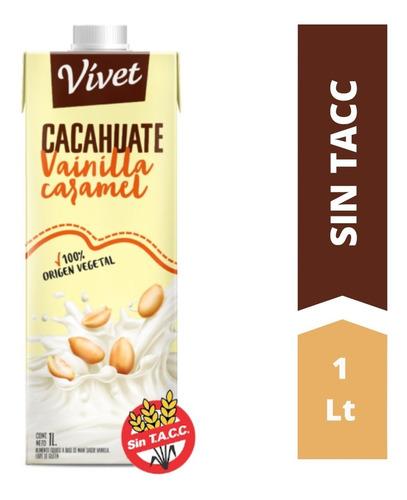 Leche De Cacahuate Vainilla Caramel Vivet X 1 L - Sin Tacc