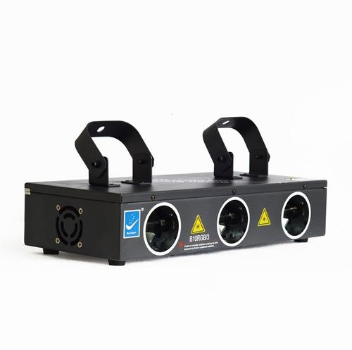 Laser B10rgb Big Dipper 3 Salidas Rojo Verde Azul 270mw Dmx Auto Audio Master Slave Audiorritmico  Automático Y Strobo.