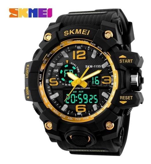 Relógio Skmei Original 1155 Dual Time 5atm Prova D