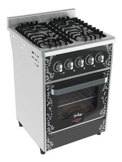 Cocina Fornax Anata 4 Hornallas 55 Cm Horno Visor Pizzero
