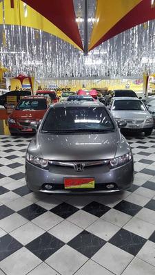 Honda Civic Lxs 1.8 Flex Automático Ano 2008 Cinza 5 Portas