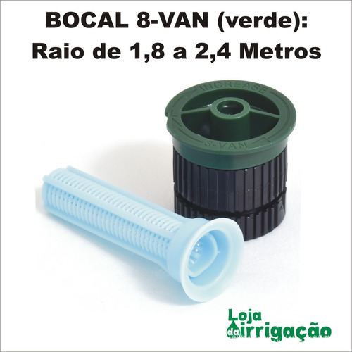 Bocal Para Aspersor Spray Rain Bird Van - Kit Com 5 Und