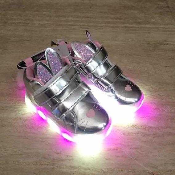 Zapatos Importados Para Niña Con Luces - Talla 24