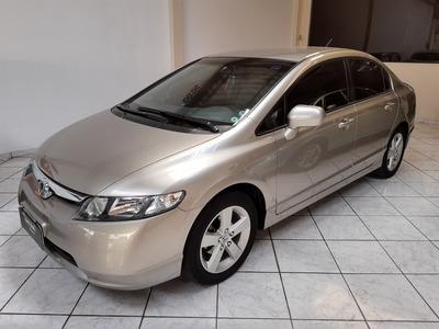 Honda Civic 2008 1.8 Lxs Flex Aut. 4p Bx Km