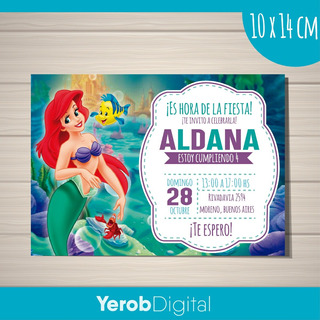 Tarjetas De Invitacion La Sirenita En Mercado Libre Argentina