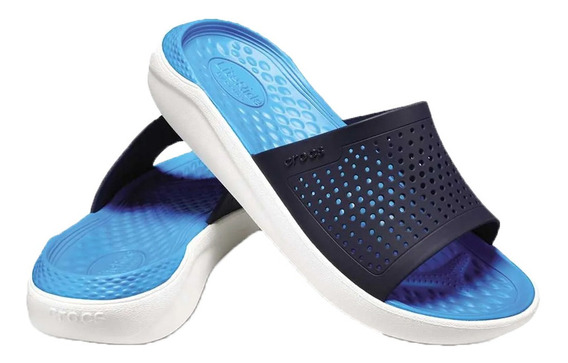 Crocs Mujer Chinela Literide Original Azul O