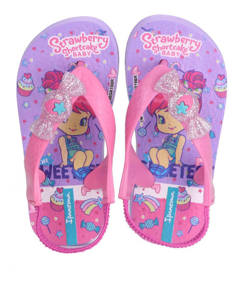 Chinelo Infantil Ipanema Moranguinho Pop Baby