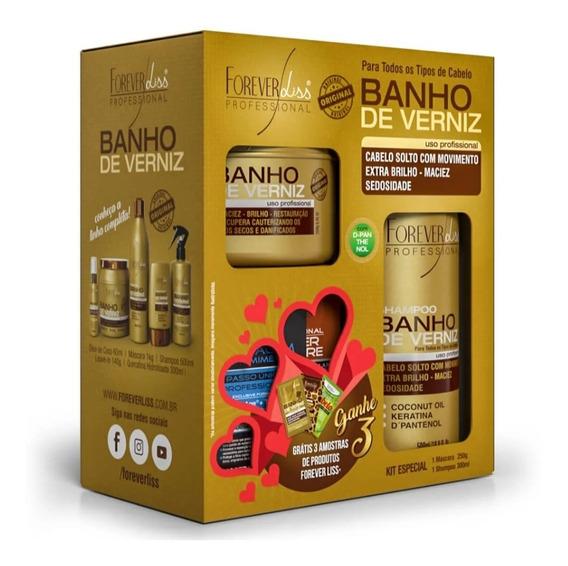 Kit Banho De Verniz Forever Liss (sh 300ml+masc 200g E Sache