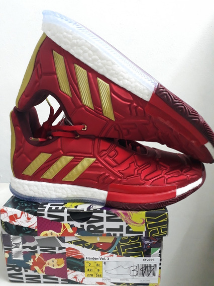 Tenis adidas James Harden Vol.3 Marvel Iron Man Talla 27cm-7