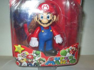 Muñeco Super Mario Bros Pvc Rígido 11cm ( Martinez )