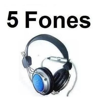5 Fone De Ouvido Com Microfone Fancong 915m.v Pronta Entrega