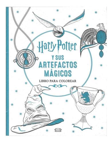 Imagen 1 de 1 de Harry Potter Y Sus Artefactos Mágicos - Libro Para Colorear