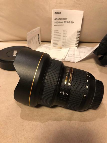 Lente Nikon 14-24 F/2.8 (estado De Zero)