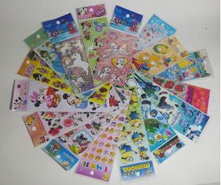 Adesivos Infantis Stickers Kit Com 60 Cartelas