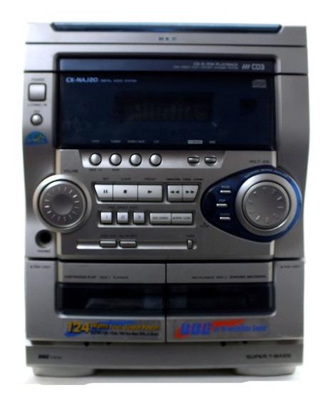 Micro System Aiwa Cx-naj20 110v 3 Cd Com Caixa Usado A11853