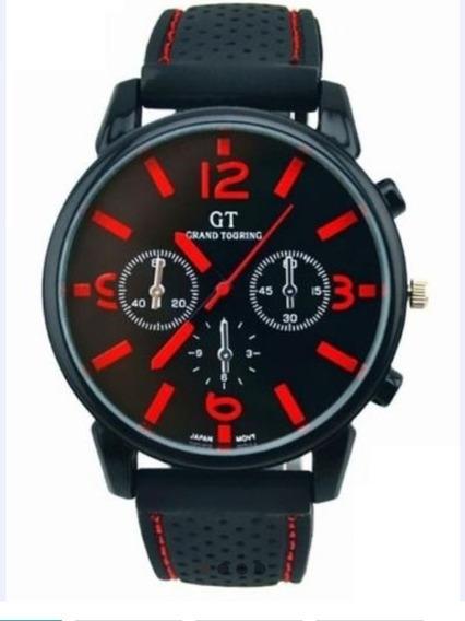 Relógio Masculino Analógico Vermelho Original