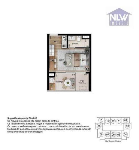 Studio Com 1 Dormitório À Venda, 28 M² Por R$ 626.160,00 - Itaim Bibi - São Paulo/sp - St0060