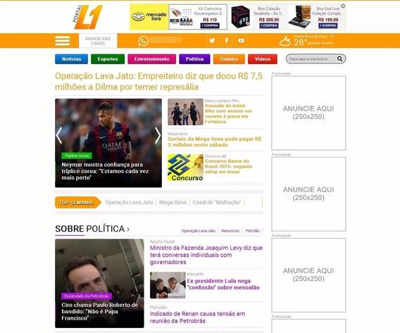 Script Php Portal De Notícias Site De Notícias - L1 - 19,90