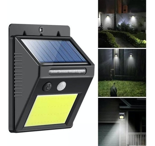 Luz Led Exteriores, Panel Solar, Sensor De Movimiento, 30led