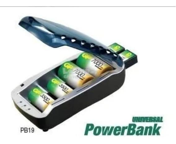 Carregador Universal Powerbank Gp-pb19 P/ Aa, Aaa,c,d,9v