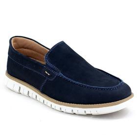 Sapato Em Couro Docksider Sapatenis Masculino Solado Modern