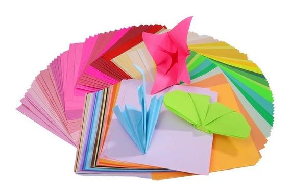 10 Paquetes Papel Origami-importado 15x 15 Cm Lisos