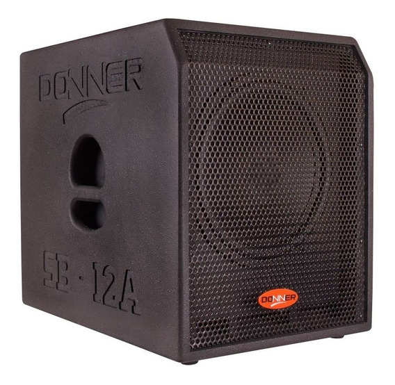 Subwoofer Grave Caixa Ativa Sub12 Donner 500 Watts Rms Nca