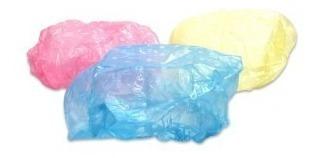 Gorra Plastico Baño 3 Unidades 3 Colores
