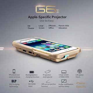 Capa Projetor Portátil iPhone Android Power Bank E Falantes