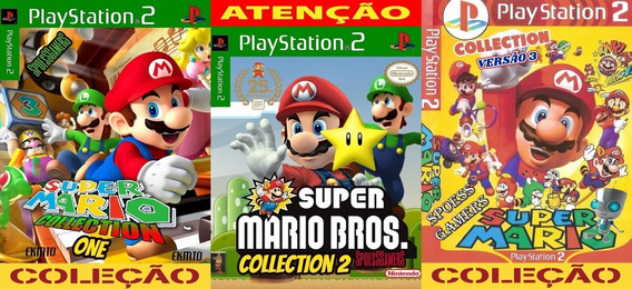 Mario Bros Ps2 Collection 1 2 3 Coleção (3 Dvds) Patch