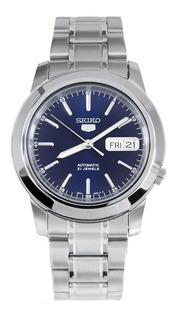 Reloj Seiko 5 Automatico Fondo Azul De Hombre Snke51