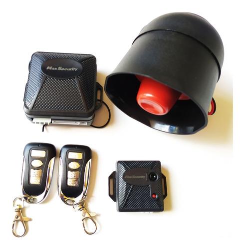 Alarma Max Security Y Bloqueo Central 4 Puertas Kit Completo