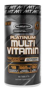 Multivitaminico Muscletech Platinum 90 Cápsulas.