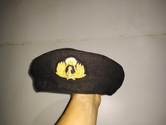 Boina Submarinista Armada Paño Escudo Oro Ara