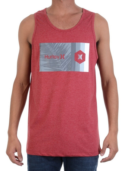 Camiseta Regata Hurley Vermelha Palmeira